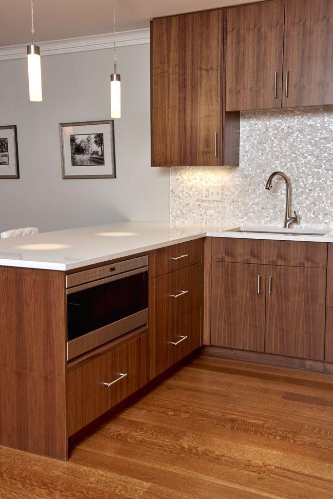 Modern Connecticut Kitchen Walnut Cabinetry